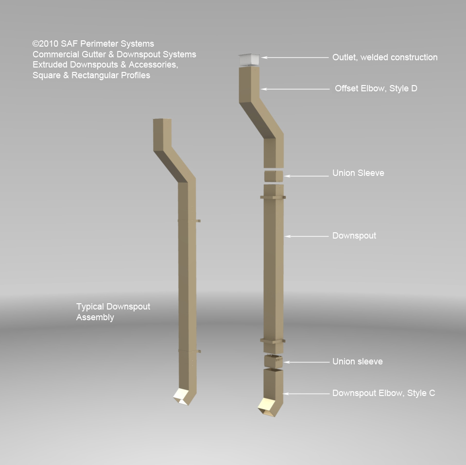 Square Downspout Overview Saf Southern Aluminum