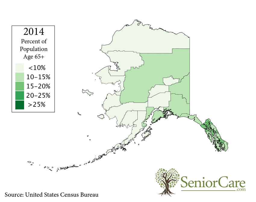 Alaska 65+ Population by County