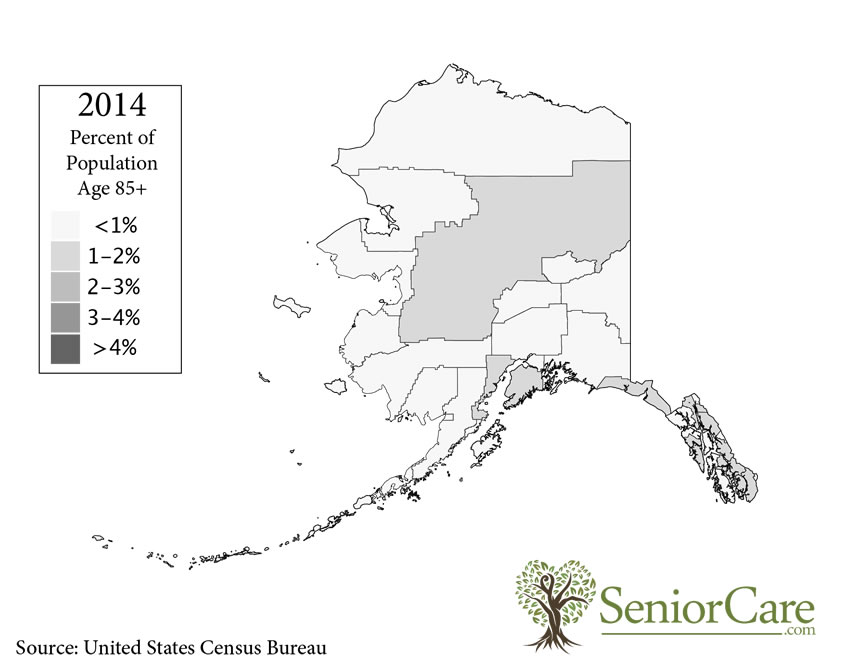 Alaska 85+ Population by County