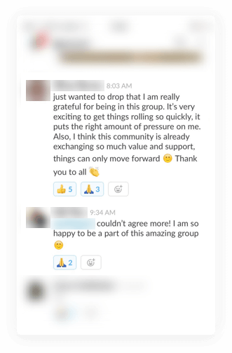 the community slack group