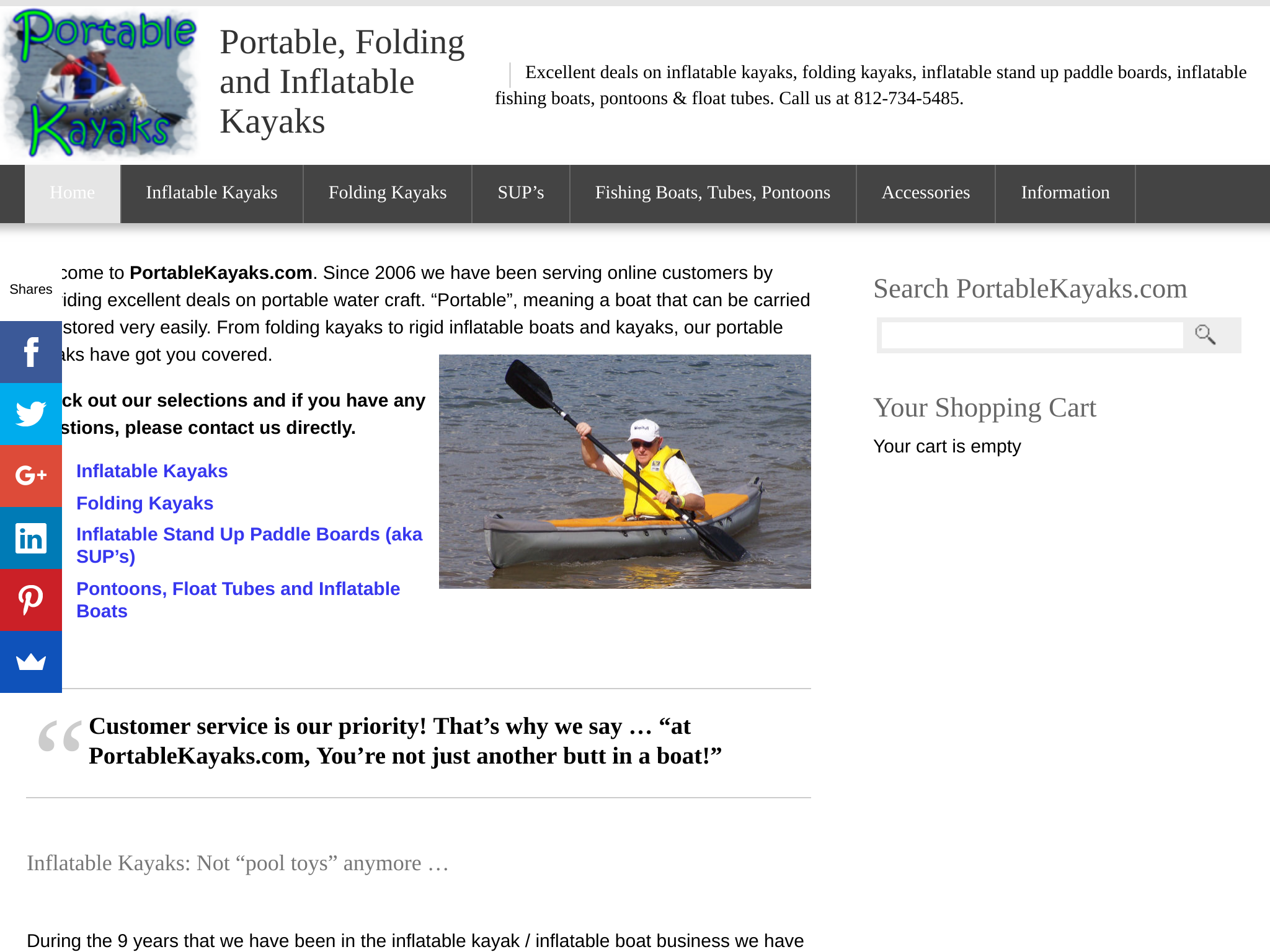 Portable, Folding and Inflatable Kayaks Traffic Stats