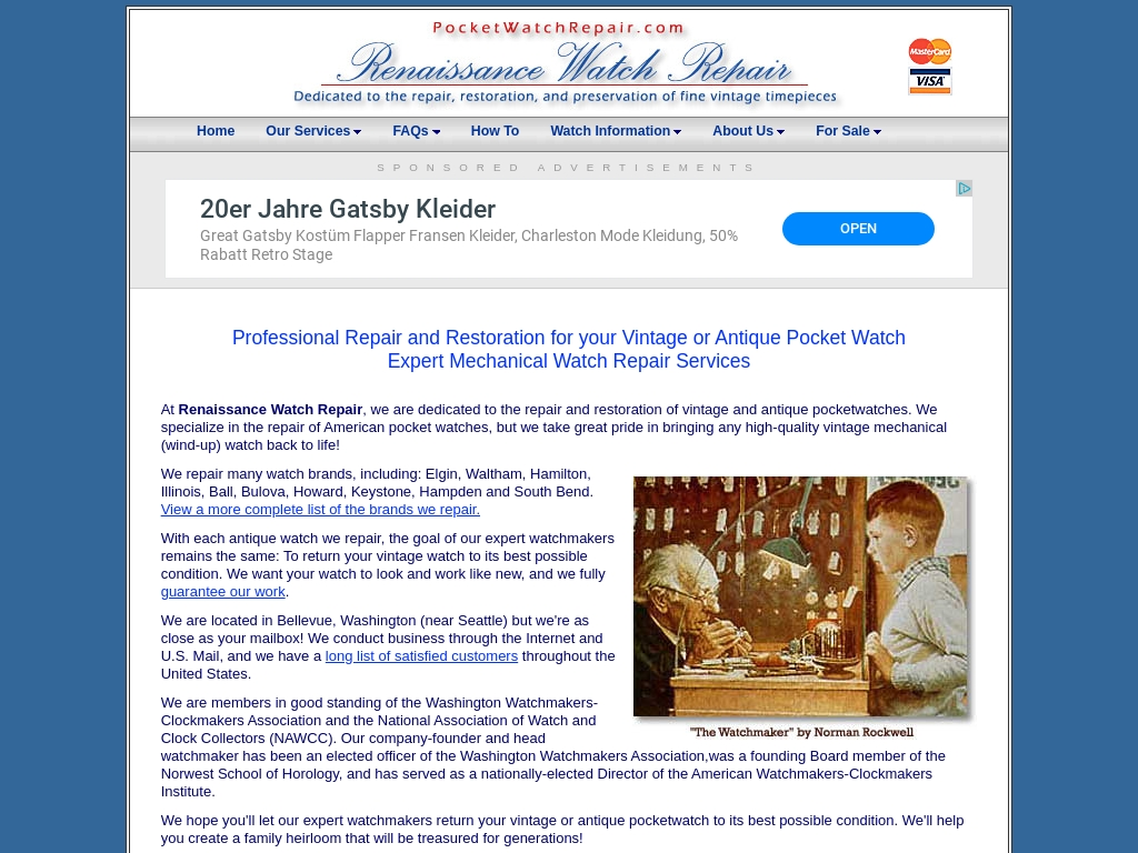renaissance watch repair - expert repair for your vintage or