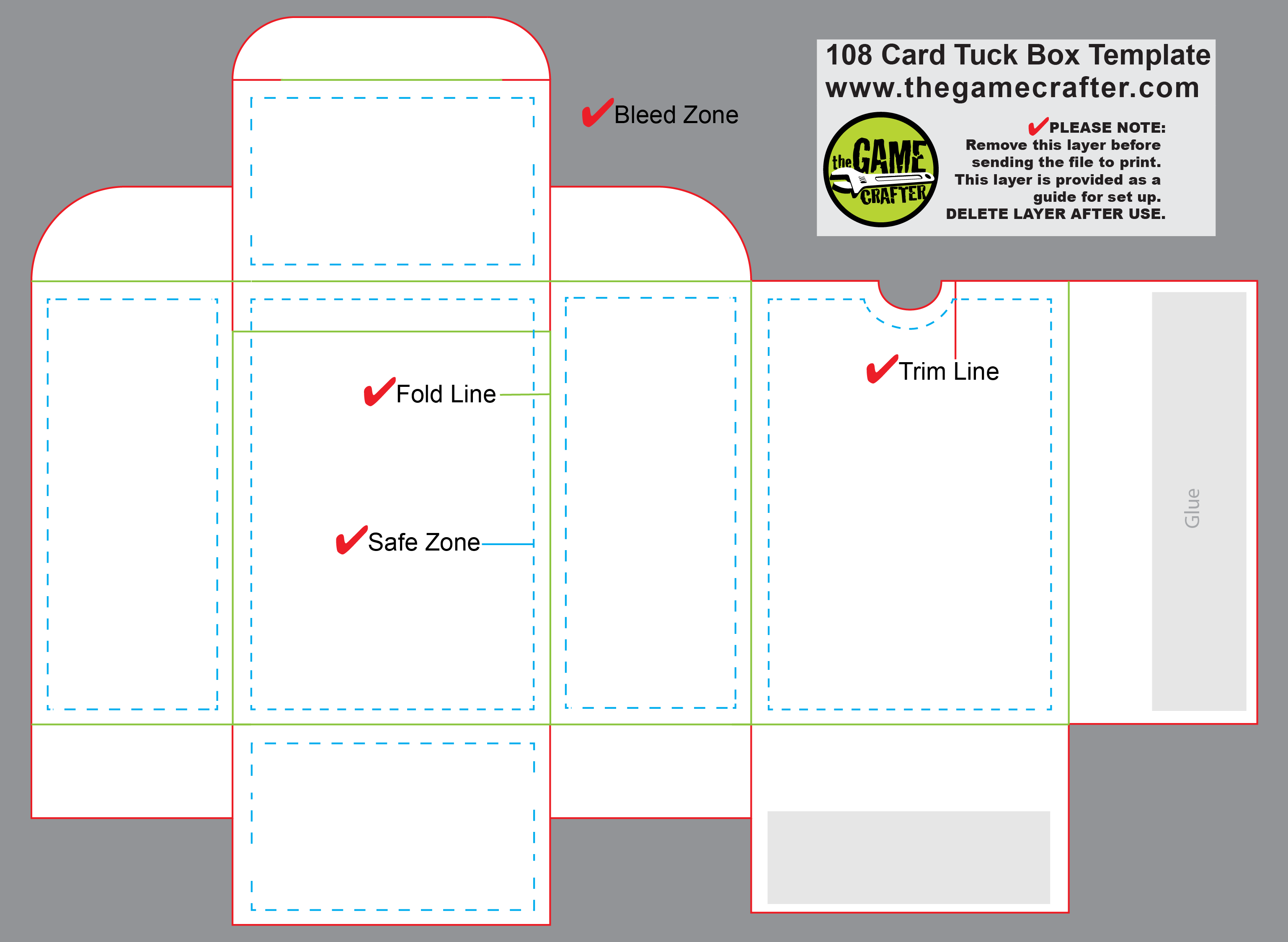 Poker Tuck Box 108 Cards