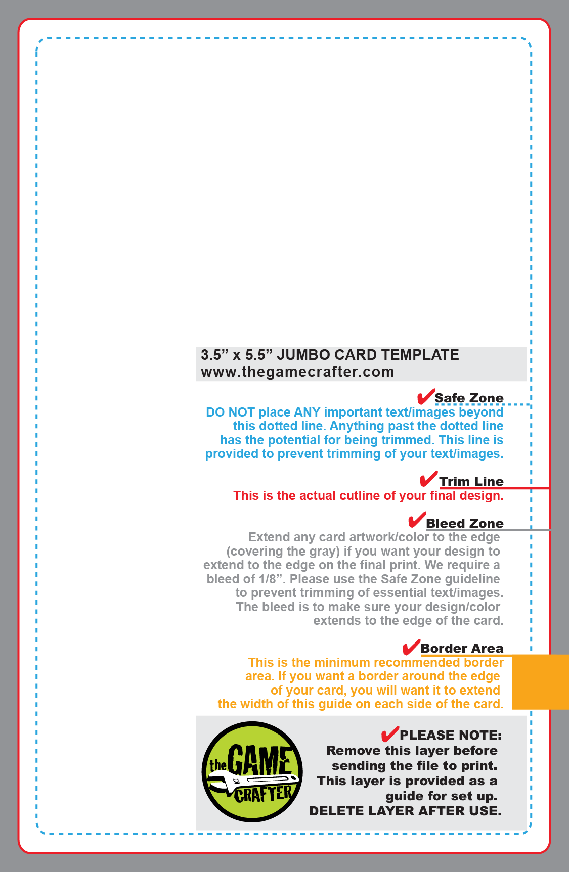 Jumbo deck for Jumbo postcard template