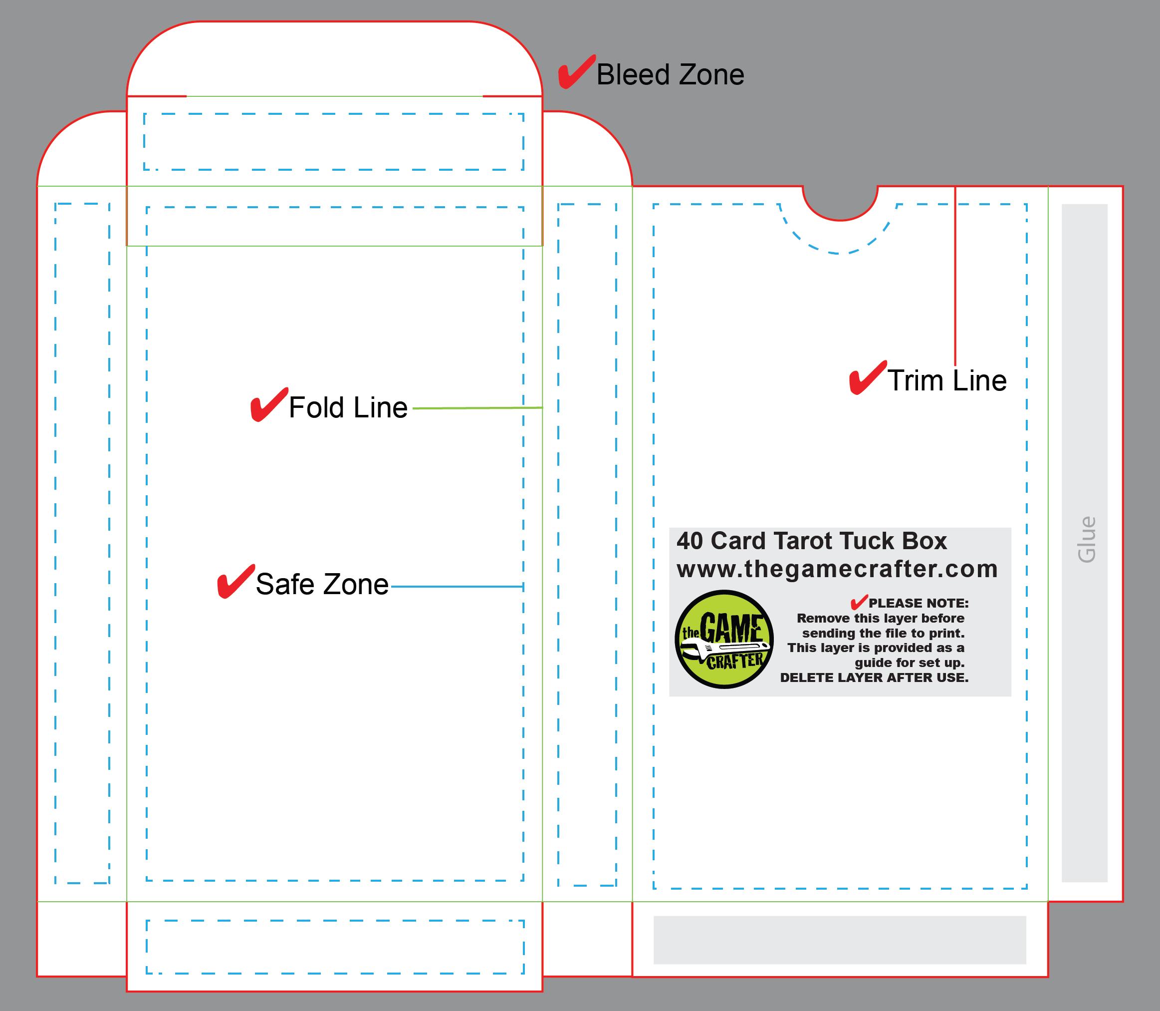 Tarot Tuck Box Cards - Tarot card template