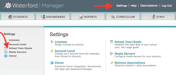 Screenshot of manager dashboard