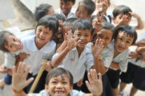 happy smiling students