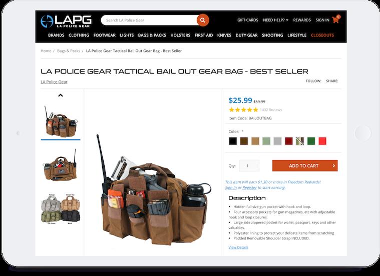 658 Cd La Police Gear Tablet Rs