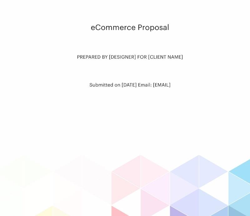 Website Proposal for Ecommerce