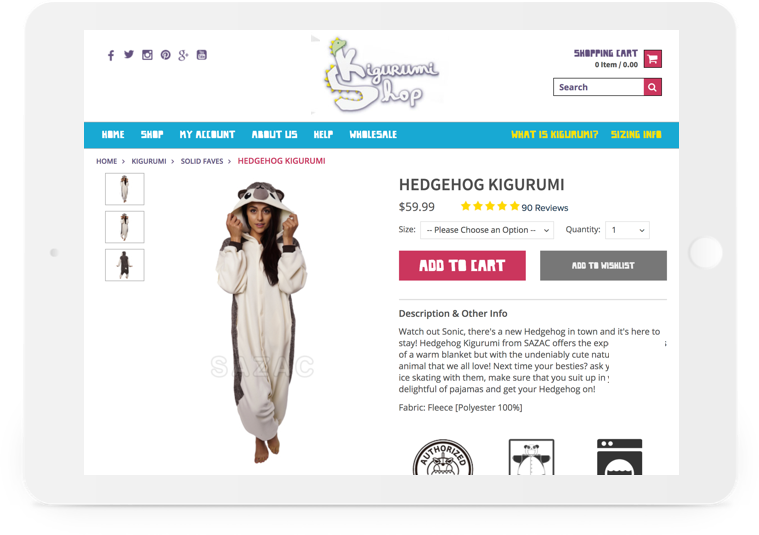 Kigurumi Shop Article Secondary
