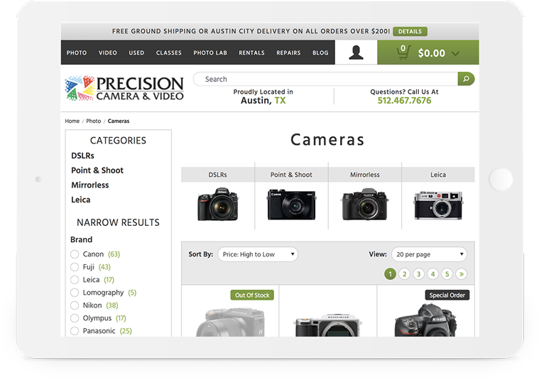 Bigcommerce Precision Camera Filter