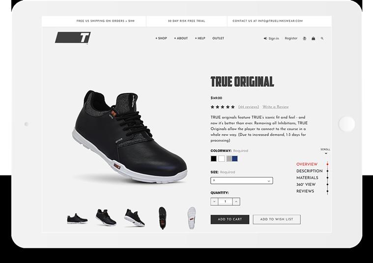Bigcommerce True Linkswear Product