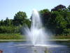 Long Meadow Landing\'s Fountain in Late Summer