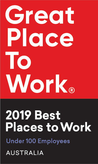 Great Place To Work: 2019 Best Places to Work Award, Under 100 Employees, Australia