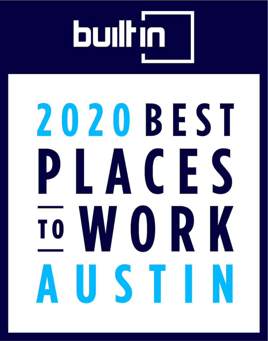 2020 Built In Austin Best Places To Work Award