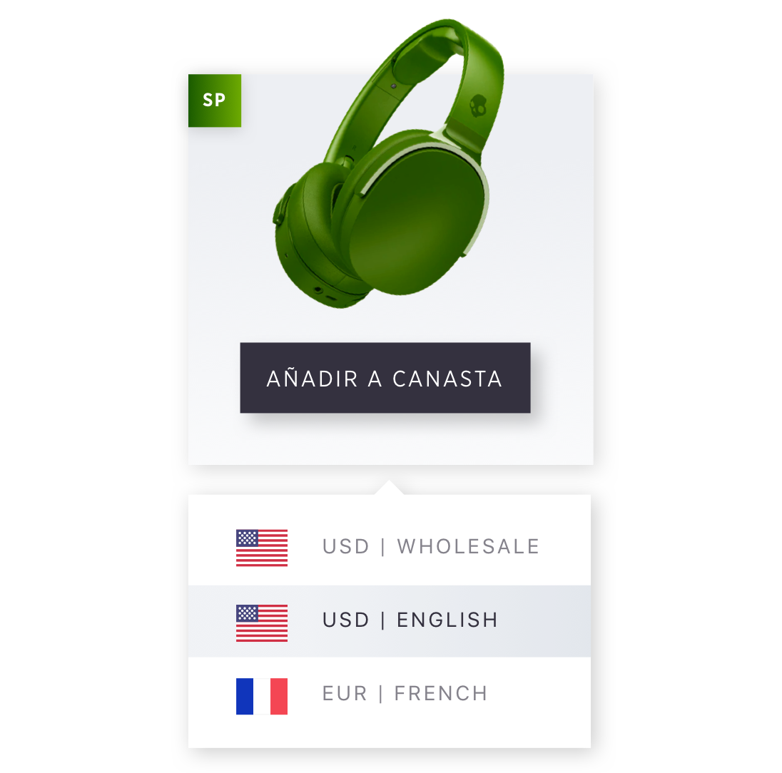 B2B Product Multi-language and currency