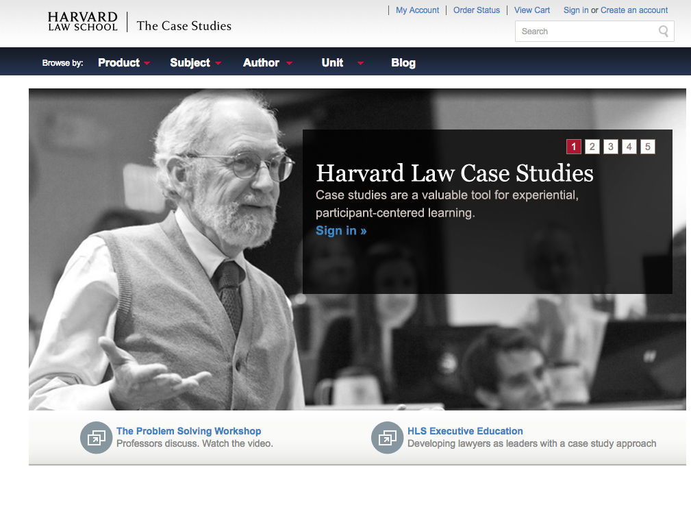 Harvard Law Case Studies