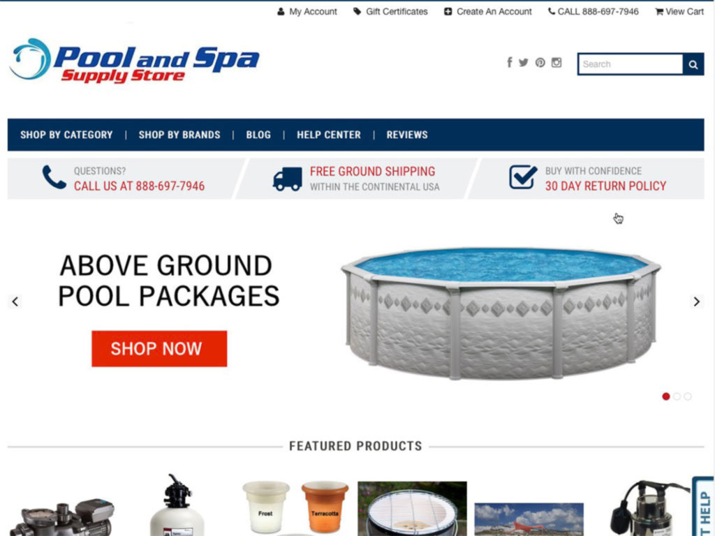 Pool and Spa Supply Store