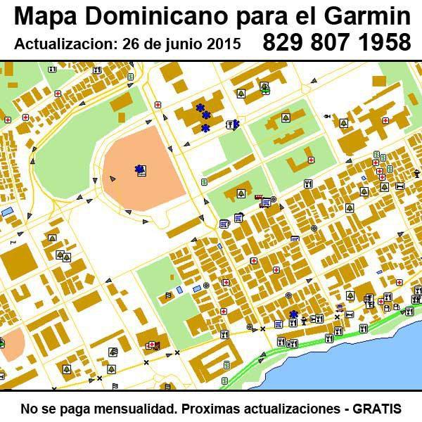 actualizar gps. garmin dominicana mapa, ver 26 junio 2015