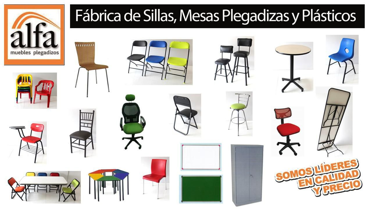 Alfamuebles fabrica de sillas mesas tablones bancos for Sillas y mesas plegables
