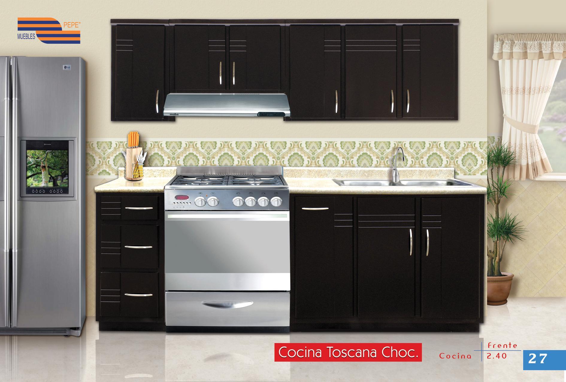 Cocina integral mod toscana madera mts 5 pzas for Cocina integral 3 metros