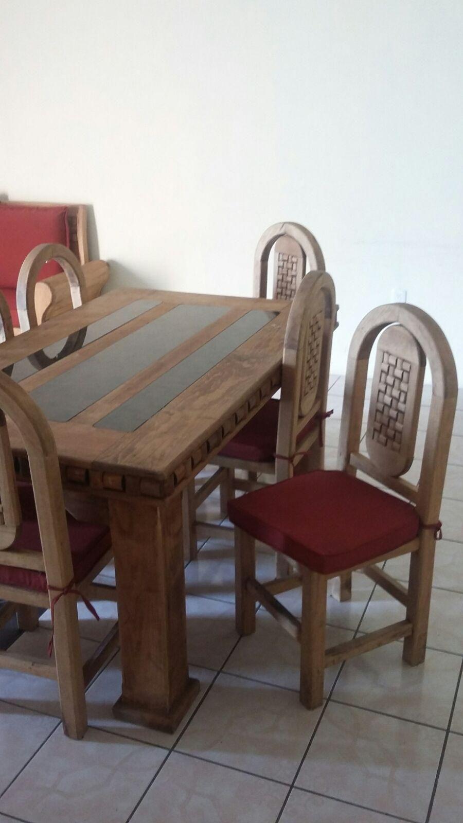 Comedor rustico 6 sillas for Comedor 6 sillas usado