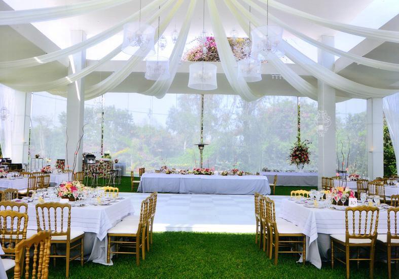 Decoraci n con telas para boda xv a os bautizo y primera comuni n - Como decorar un salon para bautizo ...