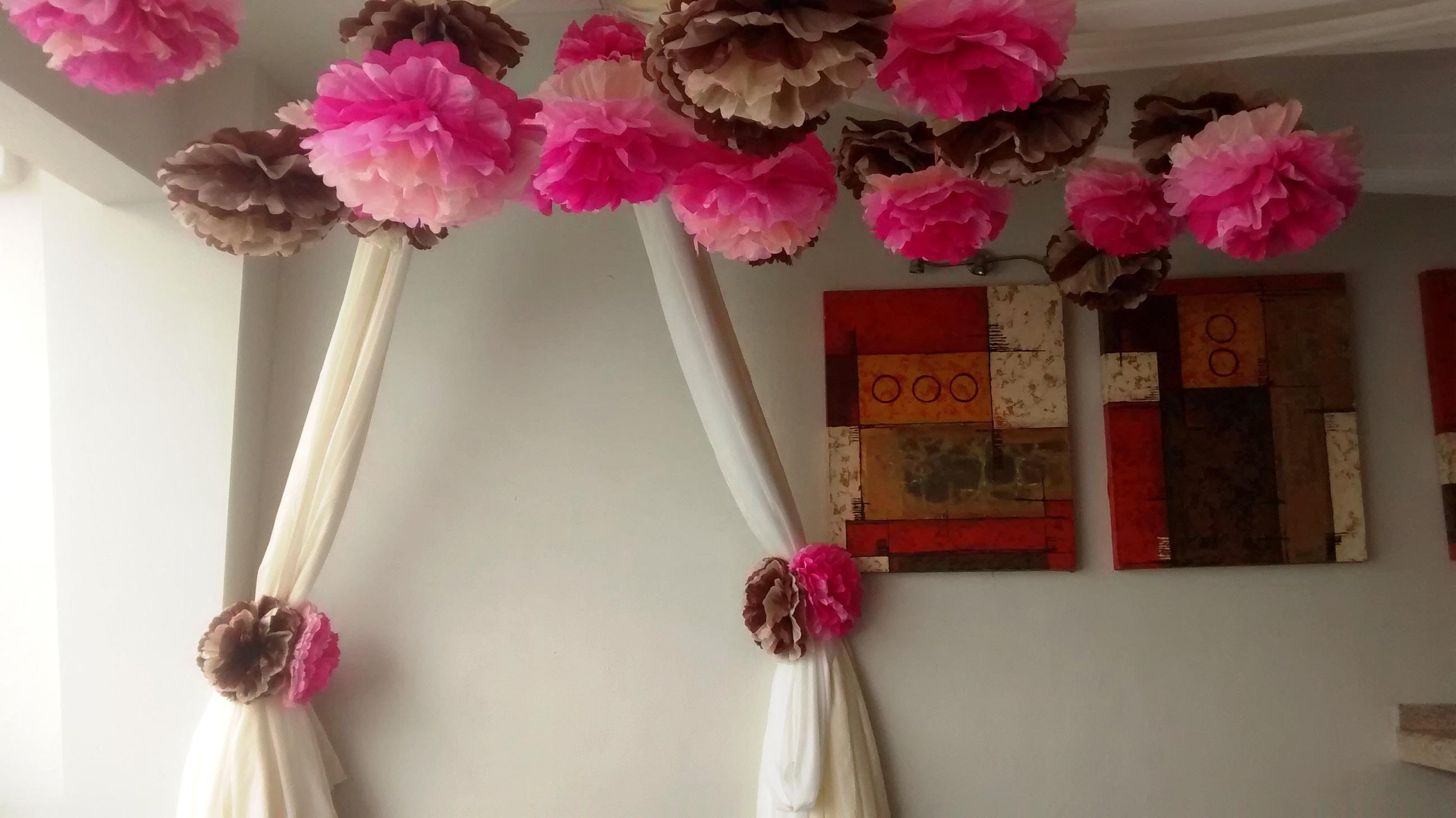 Decoracion con telas para 15 a os for Decoracion de pared para quinceanera
