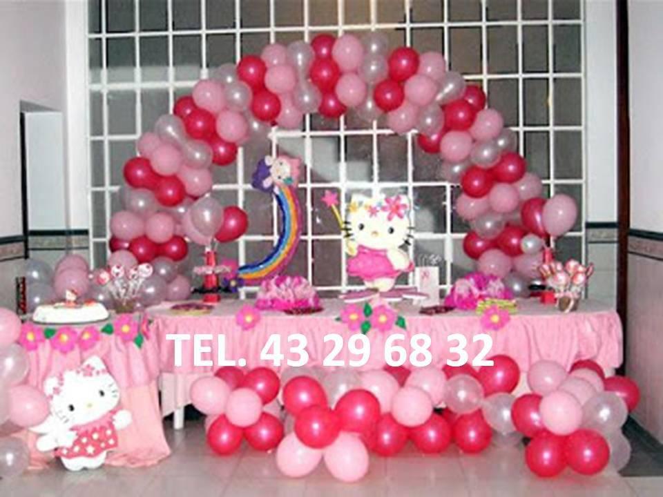 con globos para cumpleaos fiestas infantiles bautizos bodas xv aos etc with cumpleaos nia decoracion
