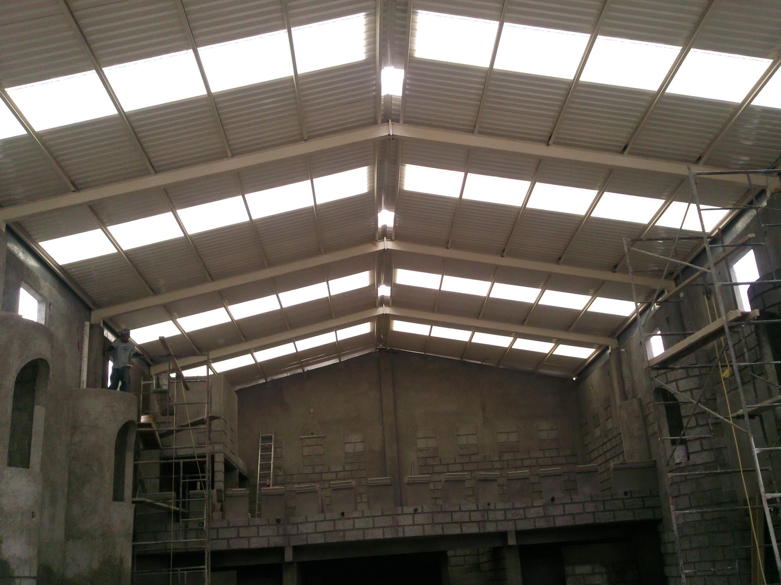 Fabricacion de techumbres tejabanes y y naves for Calefactores para naves industriales