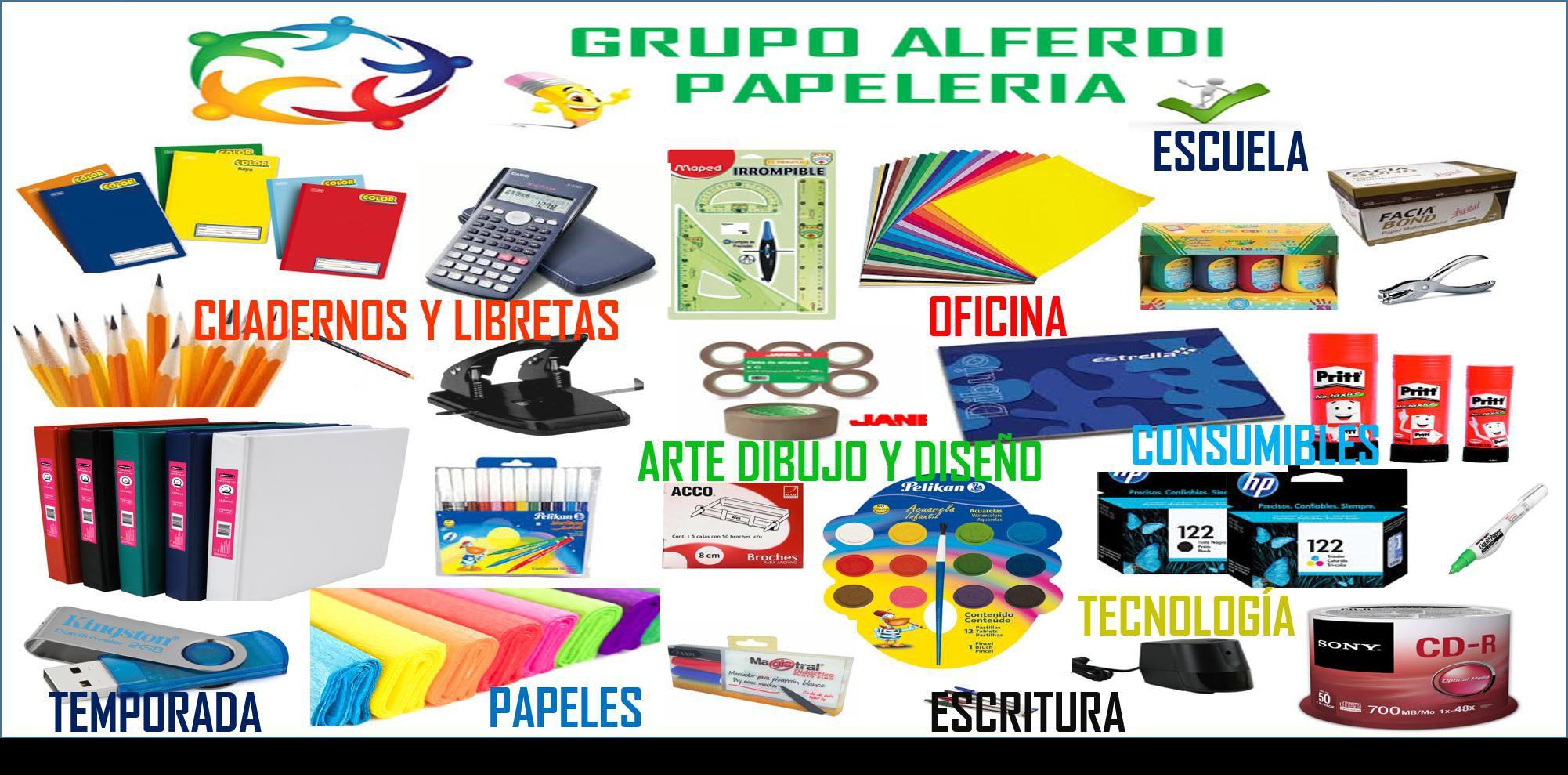 Grupo alferdi papeler a cuadernos y libretas blocks for Productos oficina