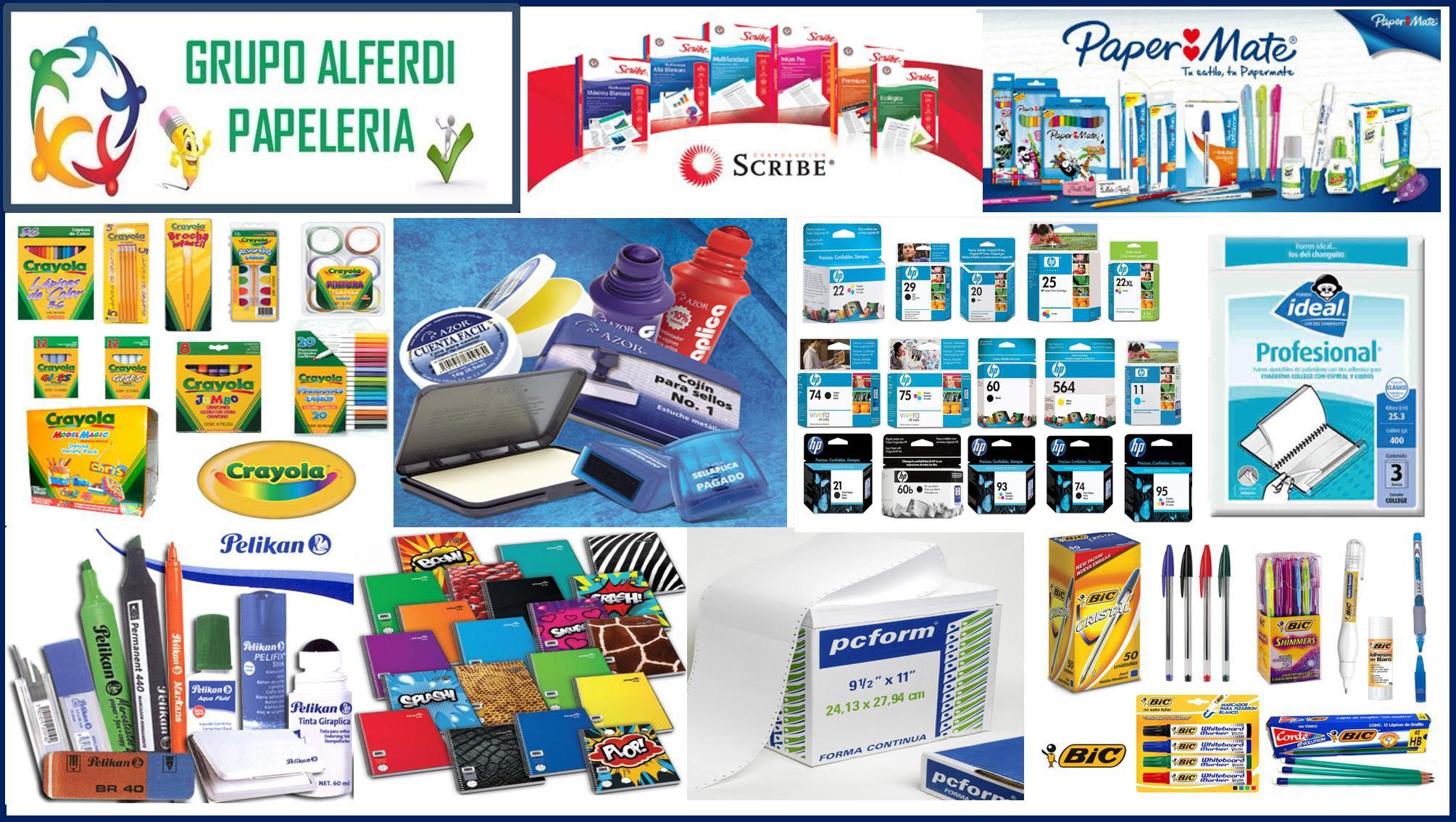 Grupo alferdi papeler a cuadernos y libretas blocks for Articulos de oficina