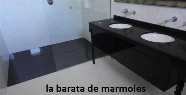 Lavabo cubierta en granito negro san gabriel el precio es for Precio del granito por metro