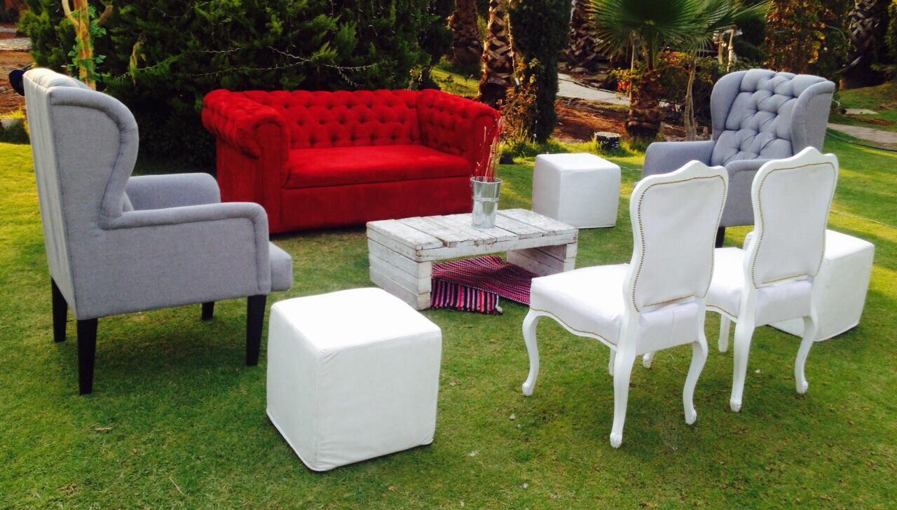 Mobiliario eventos renta de salas renta de periqueras for Alquiler muebles vintage