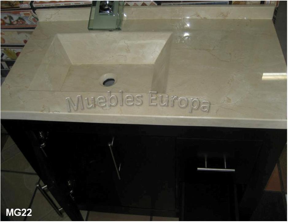Muebles de bao ban lavabos marmol granito onix volados for Marmol para banos precios