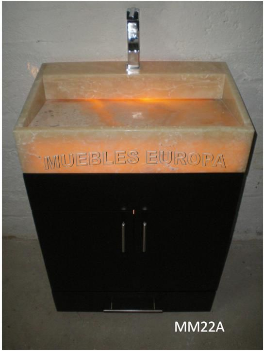 Muebles gabinetes de ba o bao bano lavabos marmol onix for Lavabos de marmol y granito