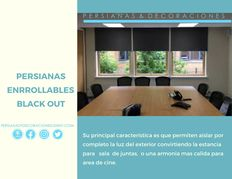 PERSIANAS ENROLLABLES BLACK OUT OSCURIDAD TOTAL AL 100 %