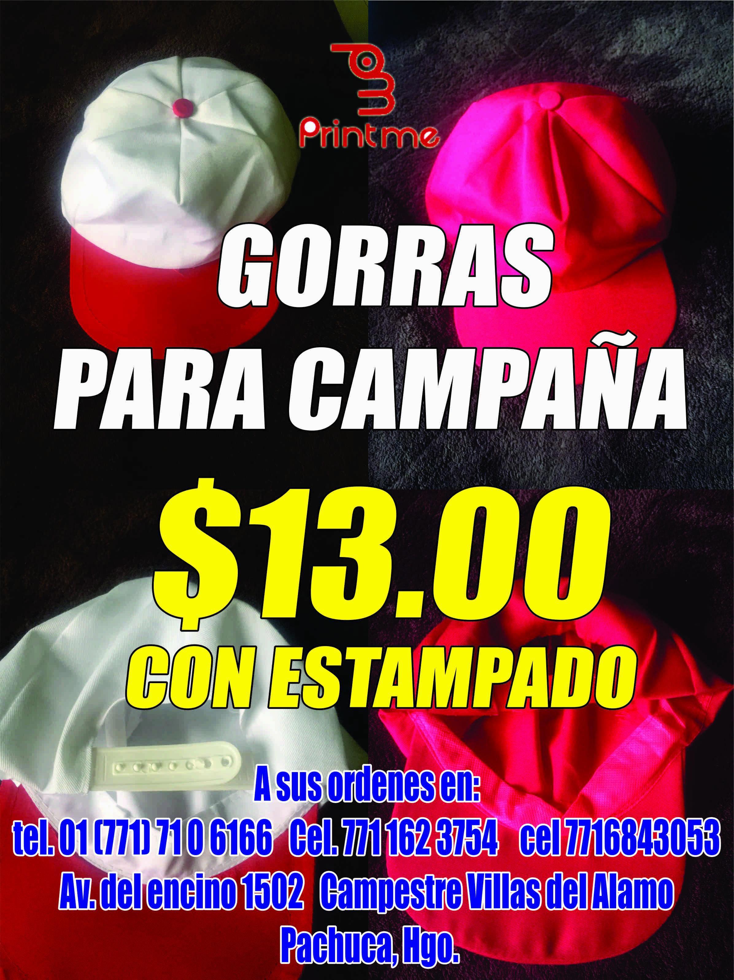 0190b51558513 Playeras para campaña política y gorras