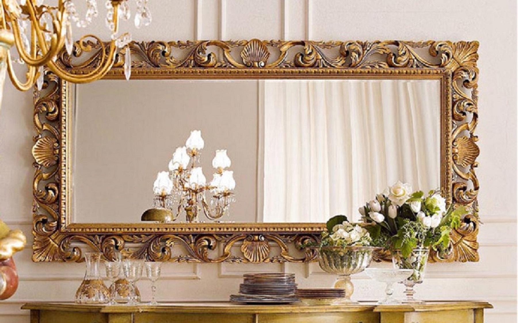 Preciosos espejos estilo barroco con marcos de madera for Disenos de espejos tallados en madera