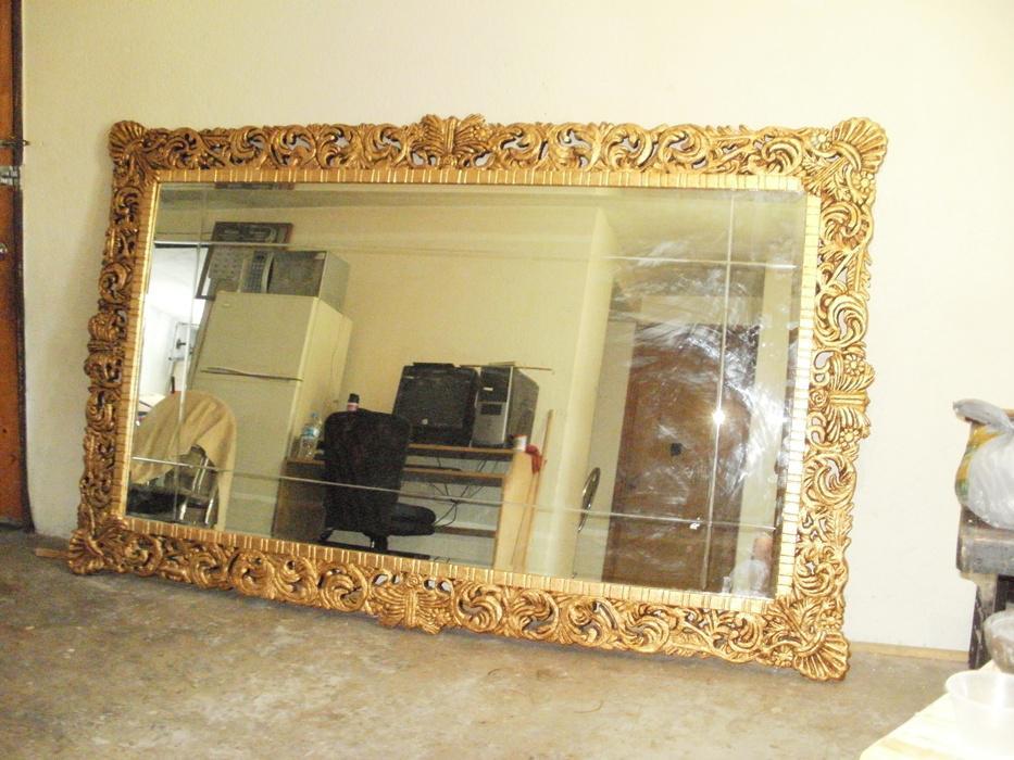 Preciosos espejos estilo barroco con marcos de madera for Espejos grandes con marco de madera