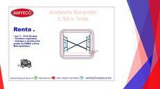 renta de andamio barandal de 1.56x1 mts