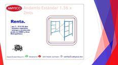 renta de torre de andamio de 1.56x2 mst