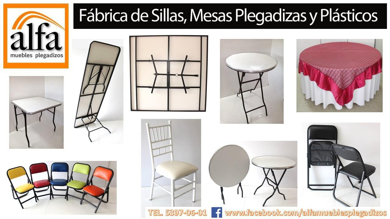Sillas mesas tiffany muebles de oficina escolar for Sillas y mesas plegables