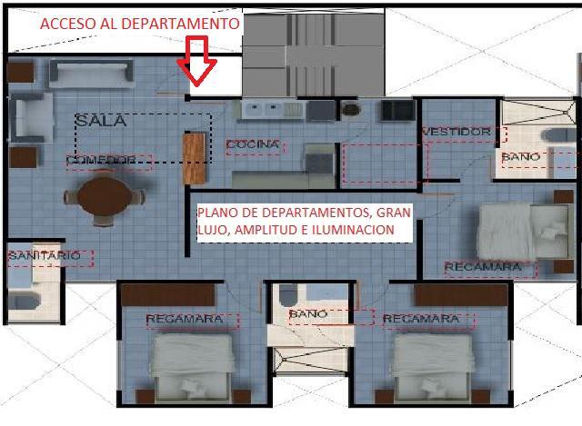 Venta departamento desarrollo mexico df 3 recamaras for Recamaras mexico df