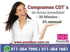 COMPRA DE CDT'S EN PRESTAYA MEDELLIN Y PRESTAYA BOGOTA