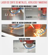 Maquina laser para corte de acero en Bogotá