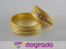 Aros de Boda Matrimonio en Plata Ley 925 y Oro 10K 18K
