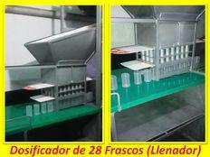 Vendo Maquina llenadora Manual para Envasar en polvo o granulado en frascos de plásticos o vidrios. Alimentos, Farmacéuticos o Químicos.