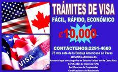 TRAMITAMOS VISAS AMERICANAS Y CANADIENSES
