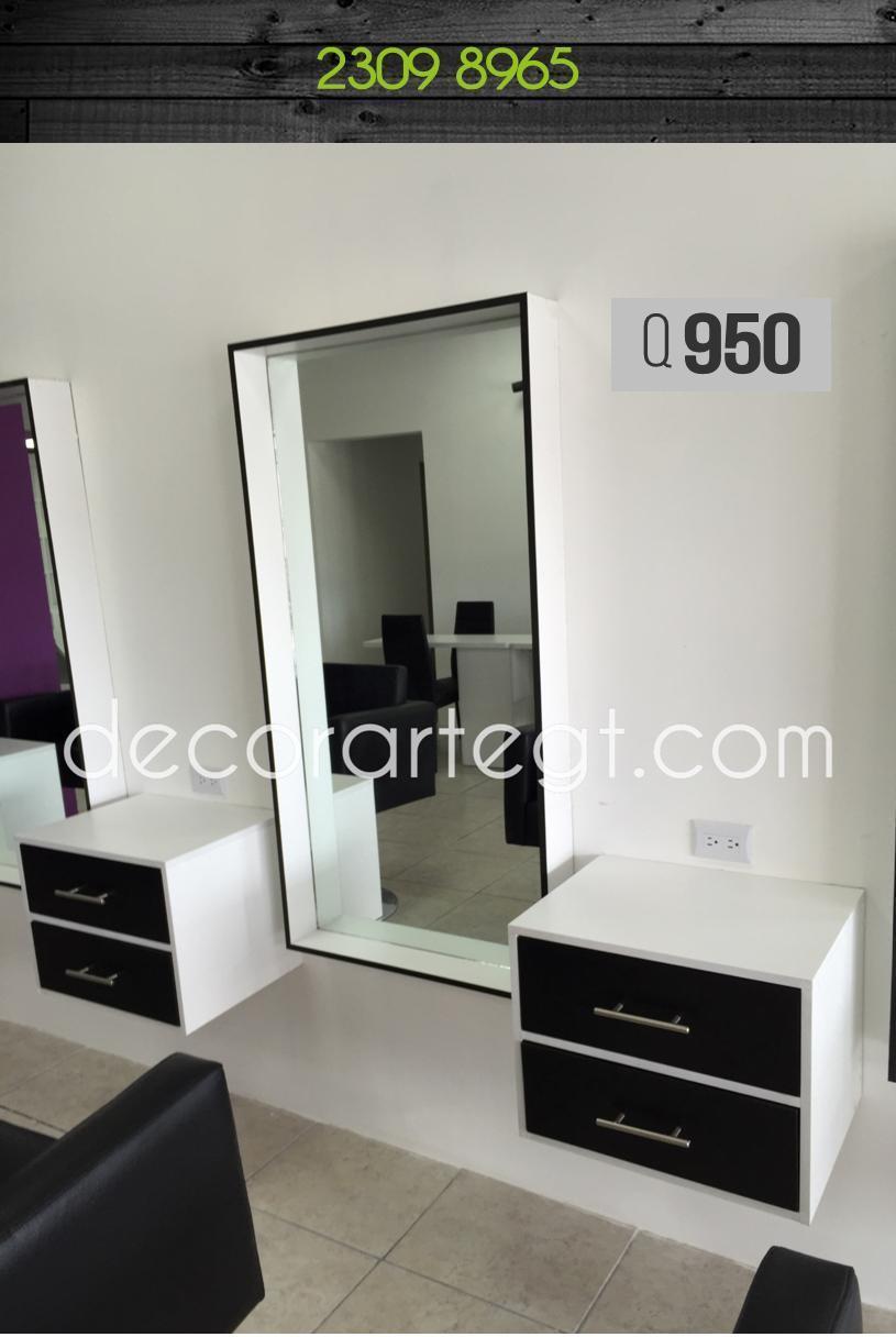 Marco de espejo para salones de belleza decorarte gt for Espejos horizontales para salon